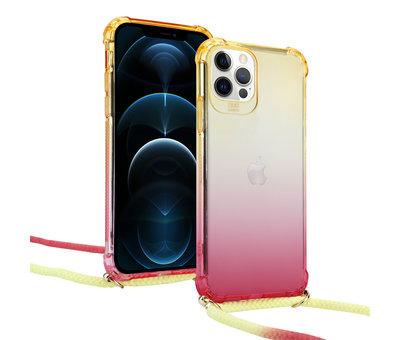 ShieldCase® ShieldCase Sunset iPhone 12 Pro Max 6.7 inch hoesje met koord