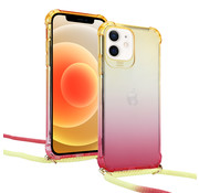 ShieldCase® Sunset iPhone 12 Mini - 5.4 inch hoesje met koord