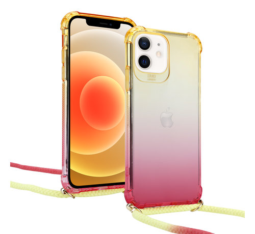 ShieldCase® ShieldCase Sunset iPhone 12 Mini - 5.4 inch hoesje met koord