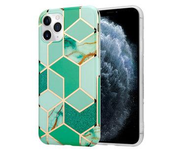 ShieldCase® Green Pattern Marmer iPhone 11 Pro hoesje (groen)