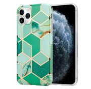 ShieldCase® Green Pattern Marmer iPhone 11 Pro Max hoesje (groen)