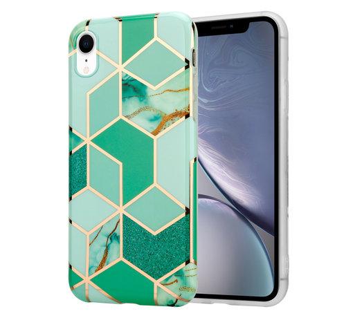 ShieldCase® ShieldCase Green Pattern Marmer iPhone Xr hoesje (groen)