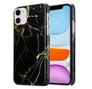 ShieldCase® iPhone 12 - 6.1 inch hoesje marmer (zwart)