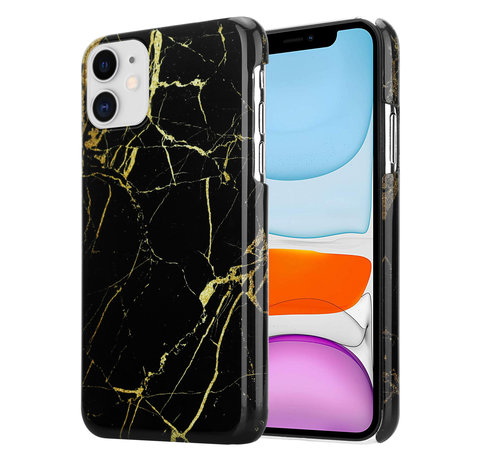 ShieldCase® ShieldCase iPhone 12 - 6.1 inch hoesje marmer (zwart)