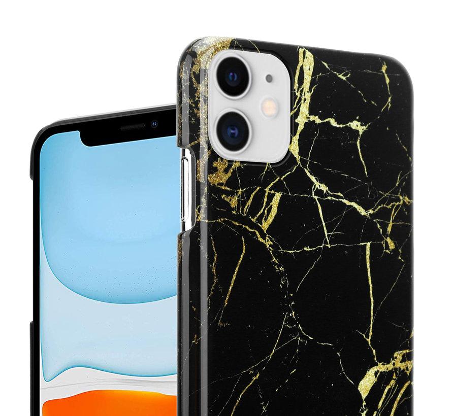 ShieldCase iPhone 12 - 6.1 inch hoesje marmer (zwart)