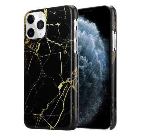 ShieldCase® ShieldCase Amazing Black Marmer iPhone 12 Pro - 6.1 inch hoesje (zwart)