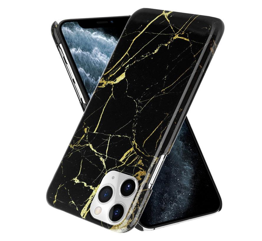 ShieldCase Amazing Black Marmer iPhone 12 Pro - 6.1 inch hoesje (zwart)