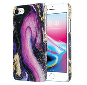 ShieldCase® Galaxy Marmer iPhone 7 / 8 hoesje (paars)
