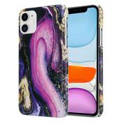 ShieldCase® Galaxy Marmer iPhone 11 hoesje (paars)