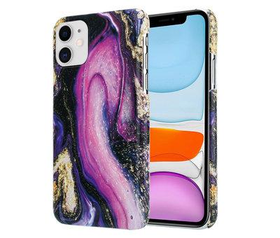 ShieldCase® ShieldCase Galaxy Marmer iPhone 11 hoesje (paars)