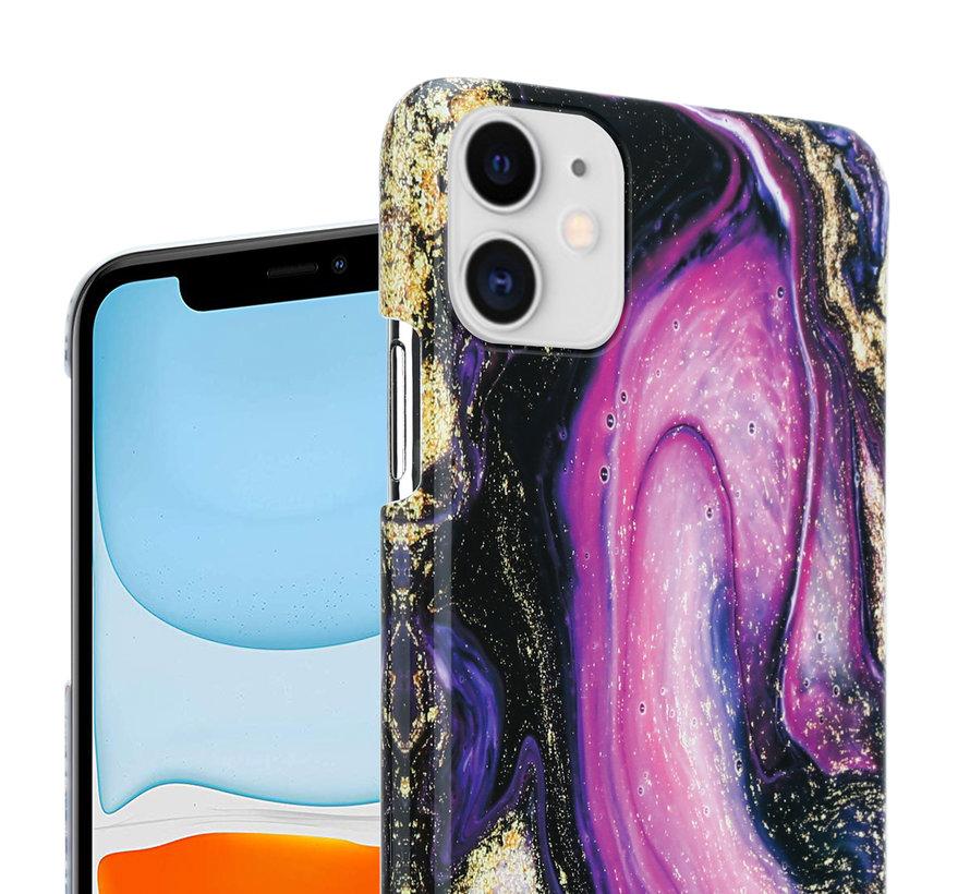 ShieldCase Galaxy Marmer iPhone 11 hoesje (paars)