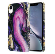 ShieldCase® Galaxy Marmer iPhone Xr hoesje (paars)