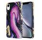 ShieldCase iPhone Xrhoesje marmer (paars)