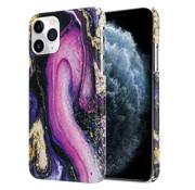 ShieldCase® Galaxy Marmer iPhone 12 - 6.1 inch hoesje (paars)