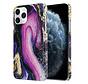 ShieldCase Galaxy Marmer iPhone 12 Pro - 6.1 inch hoesje (paars)