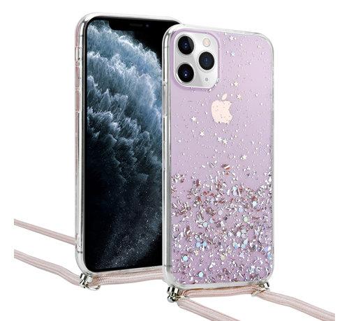ShieldCase® ShieldCase Born To Sparkle iPhone 11 Pro hoesje met koord (roze)