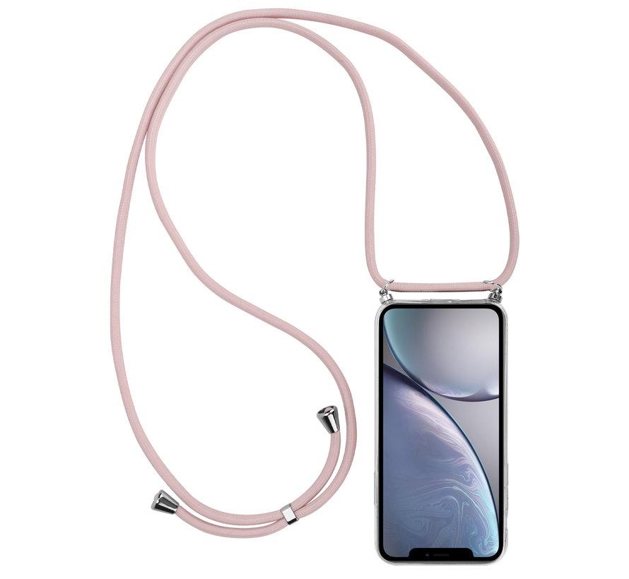 ShieldCase Born To Sparkle iPhone Xr hoesje met koord (roze)