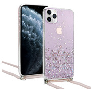 ShieldCase® Born To Sparkle iPhone 11 Pro Max hoesje met koord (roze)