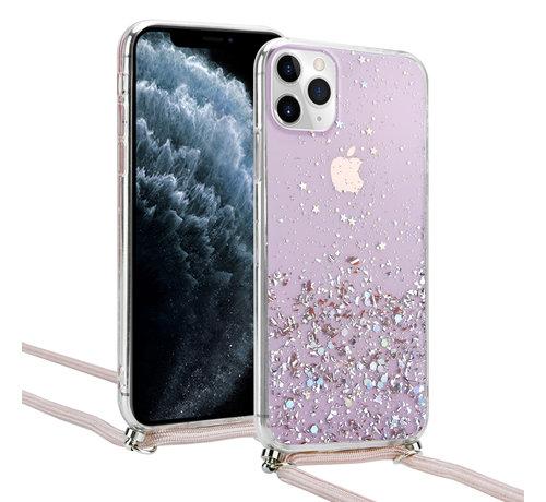 ShieldCase® ShieldCase Born To Sparkle iPhone 11 Pro Max hoesje met koord (roze)