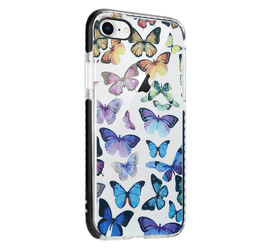 ShieldCase Rainbow Butterflies iPhone SE 2020 hoesje