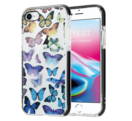 ShieldCase® ShieldCase Rainbow Butterflies iPhone SE 2020 hoesje