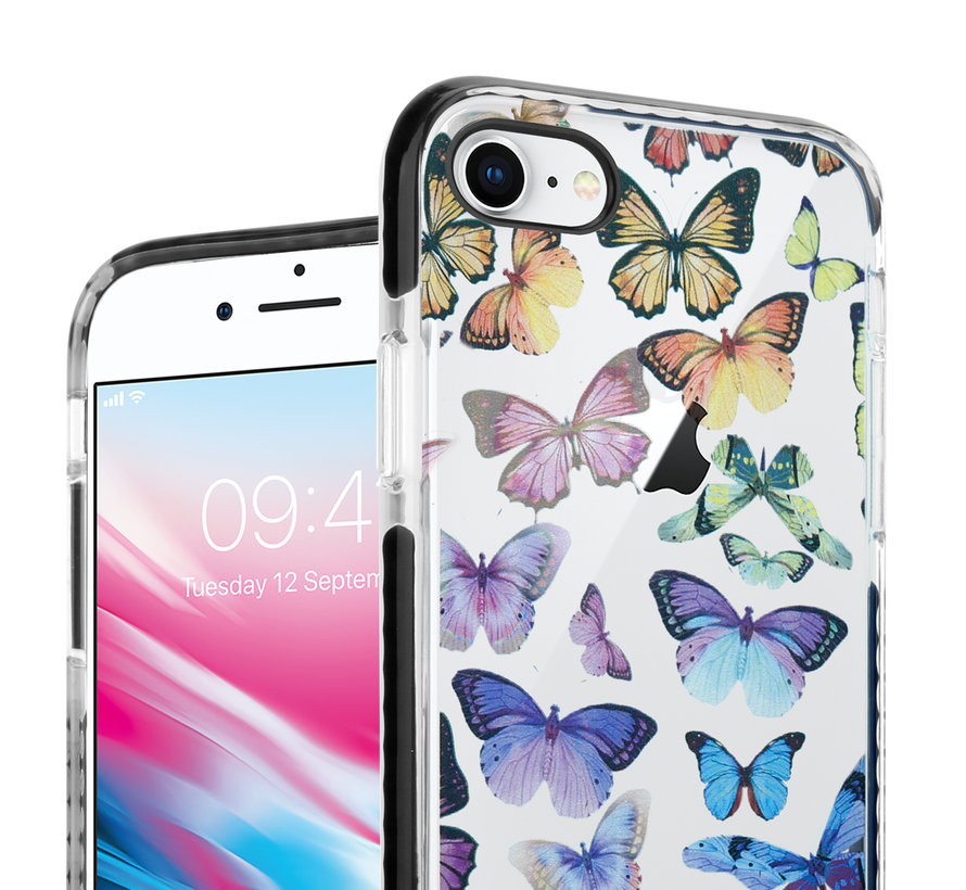 ShieldCase Rainbow Butterflies iPhone 7 / 8 hoesje