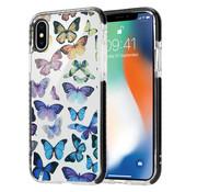 ShieldCase® Rainbow Butterflies iPhone X / Xs hoesje