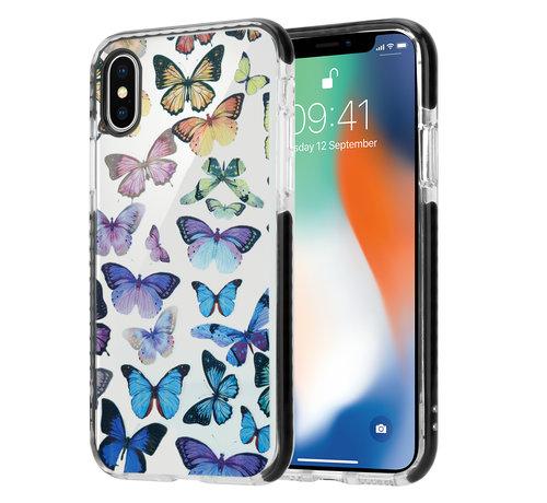 ShieldCase® ShieldCase Rainbow Butterflies iPhone X / Xs hoesje
