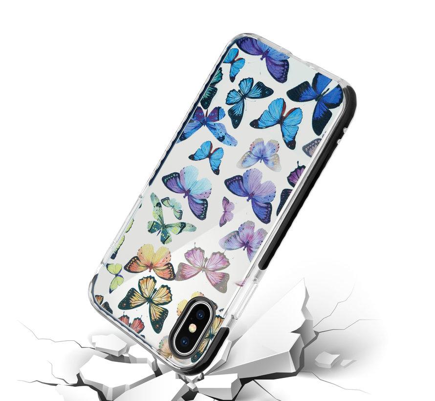 ShieldCase Rainbow Butterflies iPhone X / Xs hoesje
