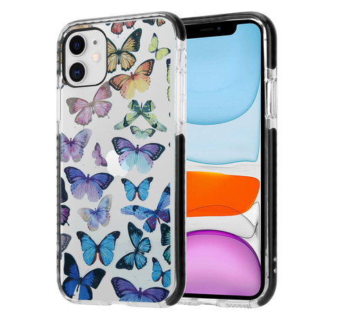 ShieldCase® ShieldCase Rainbow Butterflies iPhone 11 hoesje