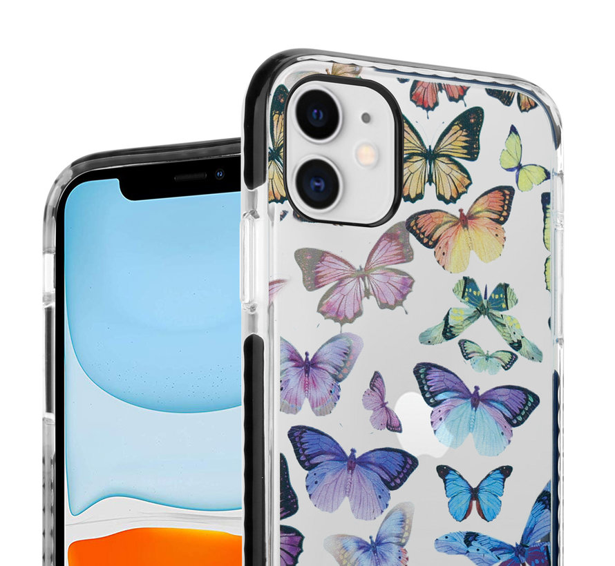 ShieldCase Rainbow Butterflies iPhone 11 hoesje