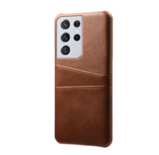 ShieldCase® Vintage case met pashouder Samsung Galaxy S21 Ultra (bruin)
