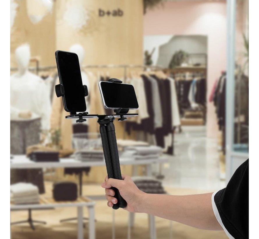 Fotopro  L1 flexibel statief met selfie lamp voor vloggen