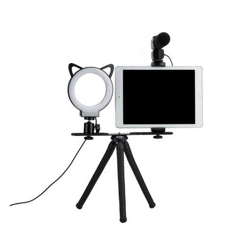 Fotopro Fotopro  L1 flexibel statief met selfie lamp voor vloggen