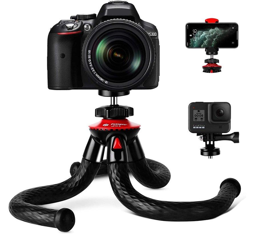 Fotopro UFO 2 flexibel statief met telefoonhouder, GoPro mount