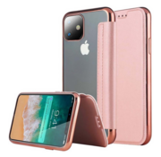 ShieldCase® Gegalvaniseerde flip case iPhone 12 Pro - 6.1 inch (roze)