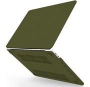 ShieldCase® Macbook Pro 13 inch 2020 hardcase (zand legergroen)