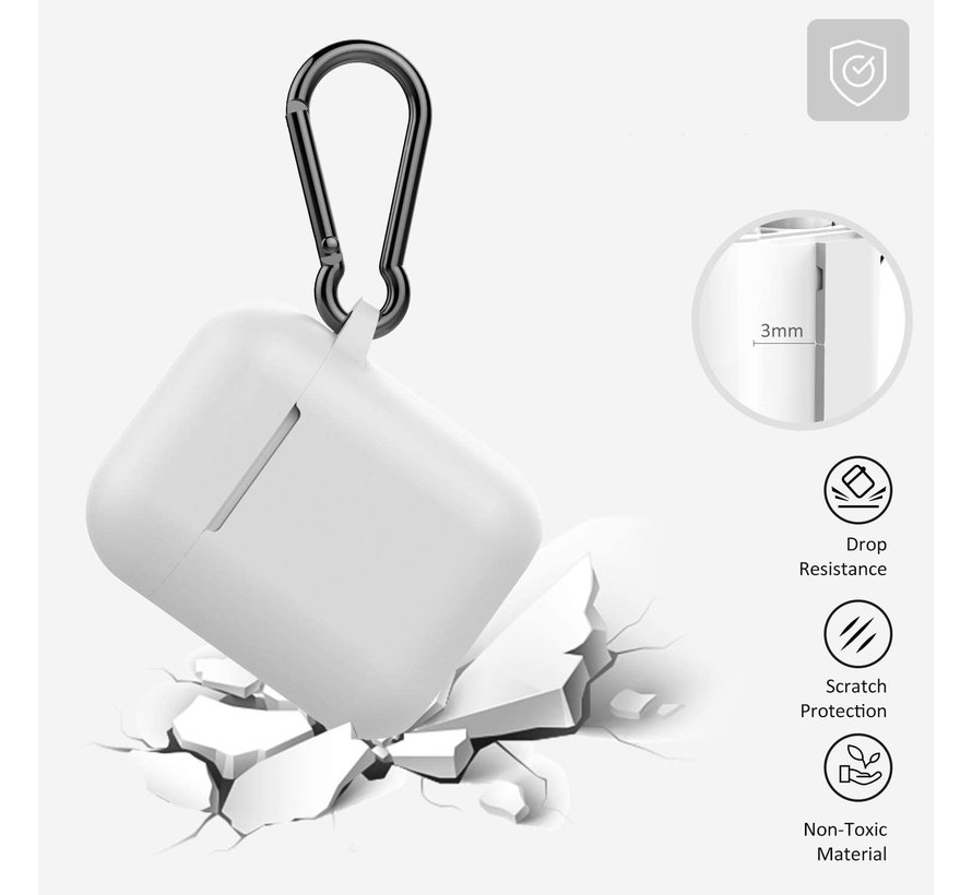 Shieldcase Apple Airpods silicone case (wit)