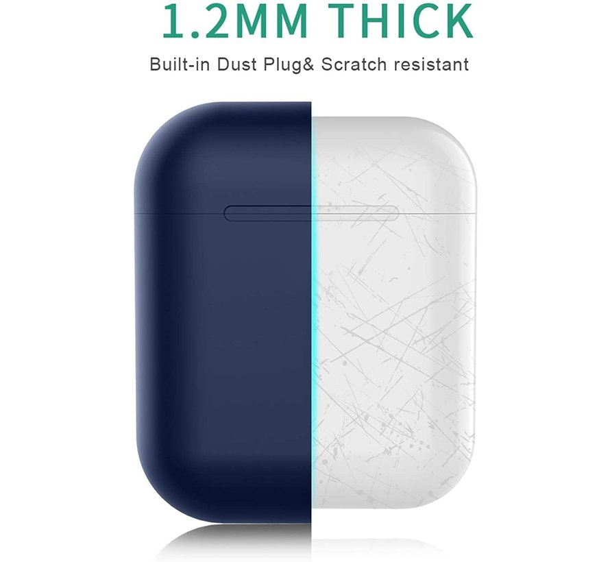 Shieldcase Apple Airpods silicone case (donkerblauw)