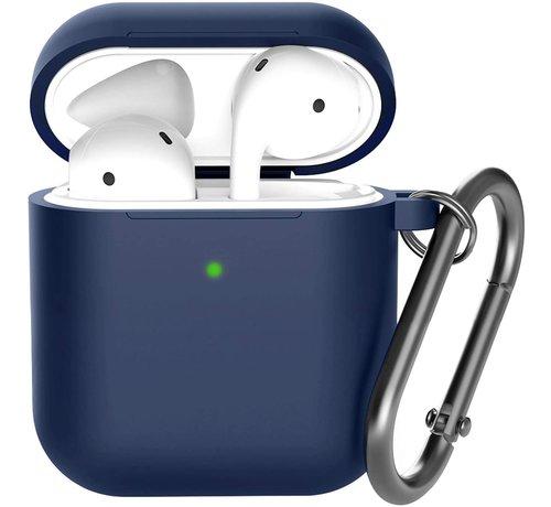 ShieldCase® Shieldcase Apple Airpods silicone case (donkerblauw)