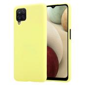 ShieldCase® Silicone case Samsung Galaxy A12 (geel)