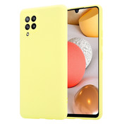 ShieldCase® Silicone case Samsung Galaxy A42 5G (geel)