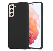 ShieldCase® Samsung Galaxy S21 silicone case (zwart)