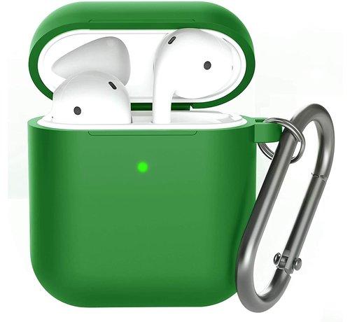 ShieldCase® Shieldcase Apple Airpods silicone case (donkergroen)