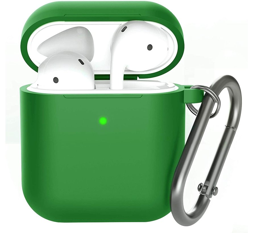 Shieldcase Apple Airpods silicone case (donkergroen)