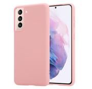 ShieldCase® Samsung Galaxy S21 Plus silicone case (roze)