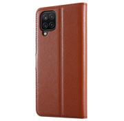 ShieldCase® Samsung Galaxy A12 wallet bookcase (bruin)