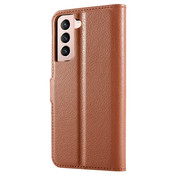ShieldCase® Samsung Galaxy S21 wallet bookcase (bruin)