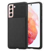 ShieldCase® Samsung Galaxy S21 carbon hoesje (zwart)