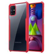 ShieldCase® Samsung Galaxy M51 shock case met gekleurde bumpers (rood)